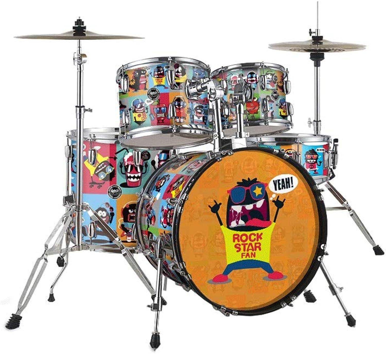 SHLIN-Trommel Kindermusik Spielzeug Drums Erwachsener Anfnger Schlaginstrument Ahornholz Testtrommel (Farbe   Rock, gre   2)