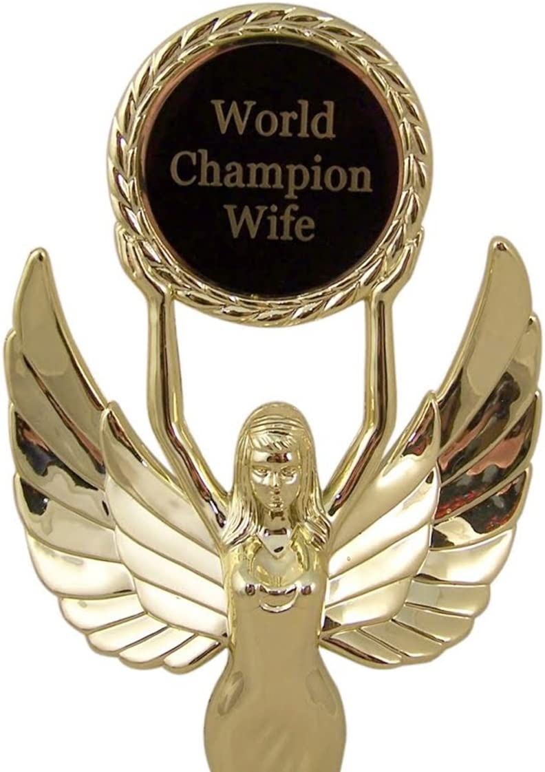 11 Inch Trophy Statue Award for World Champion Spouse