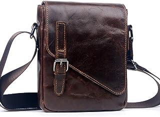 Satchel,Genuine Leather Bag,Coffee Backpack,Small Messenger Shoulder Bag,Bags for Men
