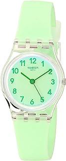 Essentials Quartz Silicone Strap, Green, 12 Casual Watch (Model: LK397)