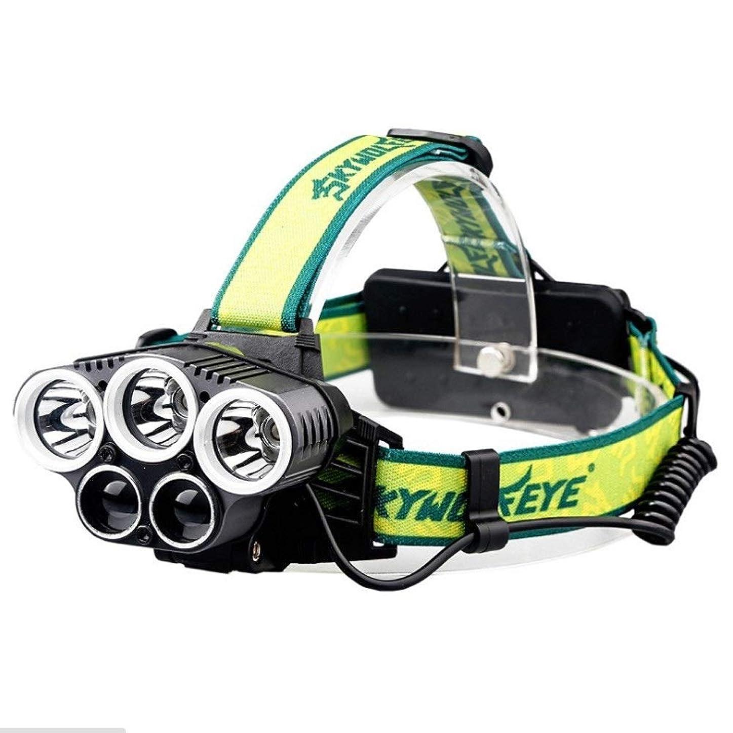 エンドテーブルラッドヤードキップリングアッパー屋外usb 5ヘッドライト3 * T6 + 2 * XPEランプビーズ18650充電式グレア5LEDキャンプヘッドライト夜釣り狩猟汎用ヘッドライト