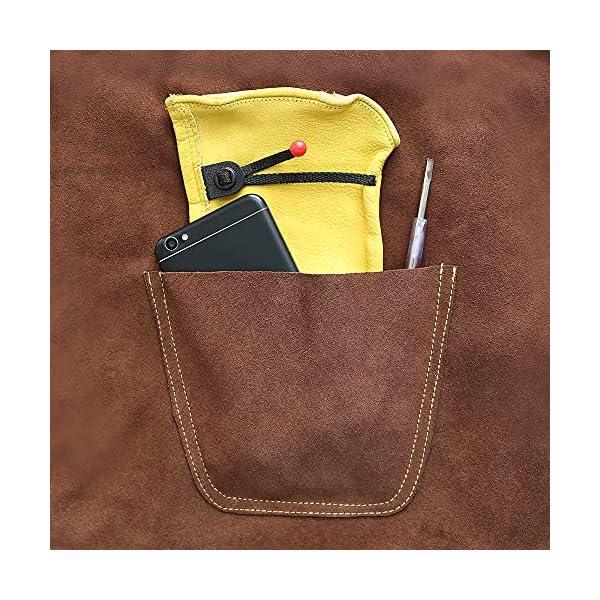 OLSON DEEPAK Leather Welding Work Apron 4