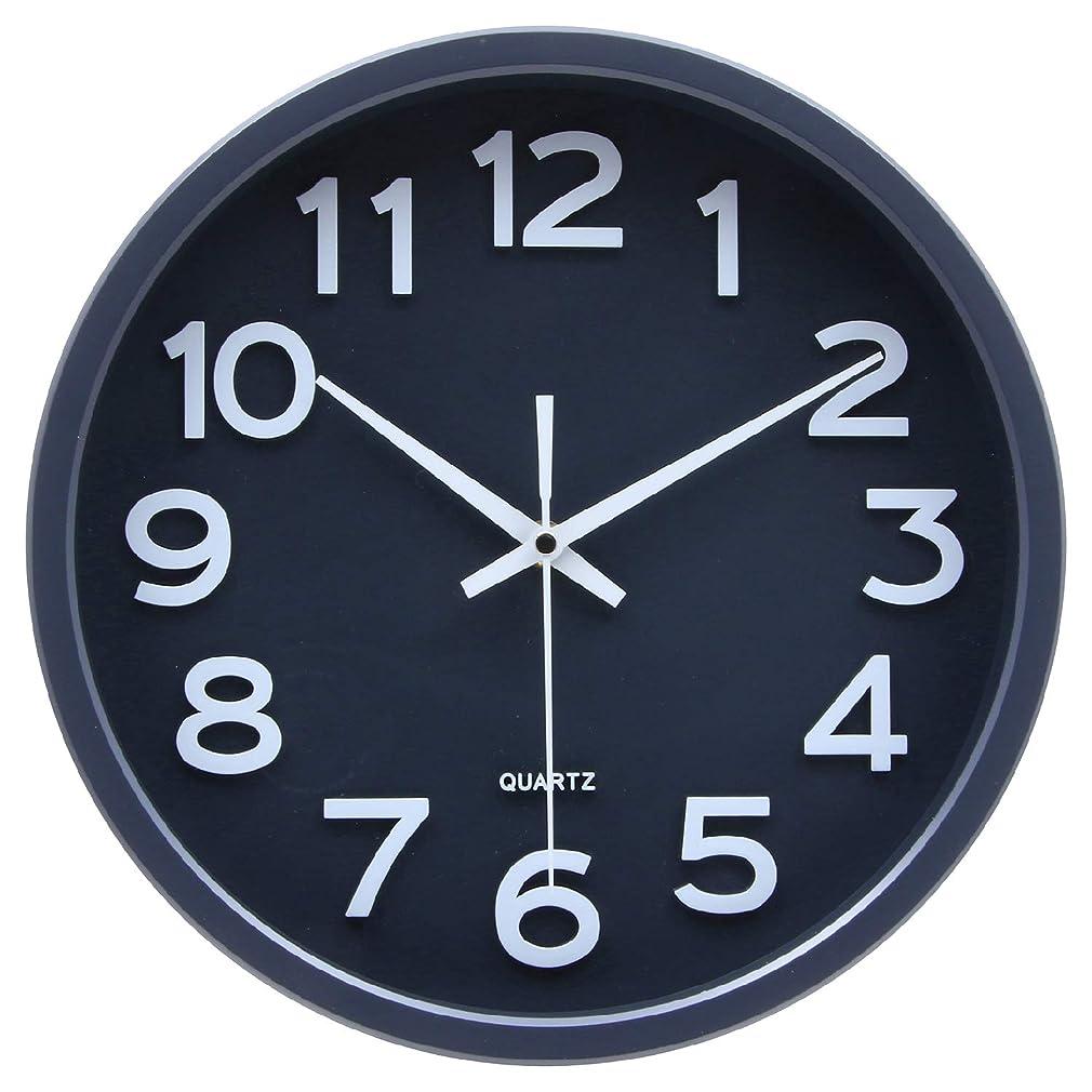 ステレオタイプ落花生ロケーション不二貿易(Fujiboeki) 掛け時計 ダークグレー 直径30cm スピカ 27257