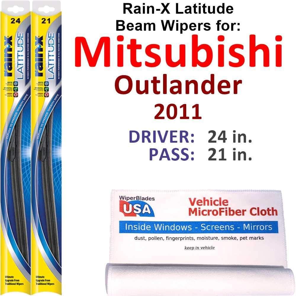 Ranking TOP19 Rain-X Latitude Beam Wiper Surprise price Blades Outlander 2011 for Mitsubishi