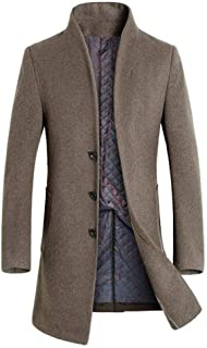 Mordenmiss Men's French Woolen Coat Business Down Jacket Trench Topcoat