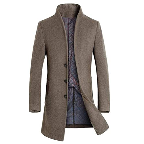 a86ad03897 Mordenmiss Men s French Woolen Coat Business Down Jacket Trench Topcoat