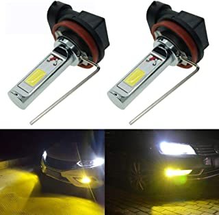 Calais Extremely Bright H11 LED Fog lights 2000 lumens High Power COB Chips LED H11 3000K Yellow LED Fog Lights Lamp Bulbs Replacement (Set of 2)