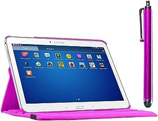 ebestStar - Funda Compatible con Samsung Galaxy Tab 4 10.1 SM-T530, T533 T531 T535 Carcasa Cuero PU, Giratoria 360 Grados, Función de Soporte + Lápiz, Violeta [Aparato: 243.4 x 176.4 x 8mm, 10.1'']