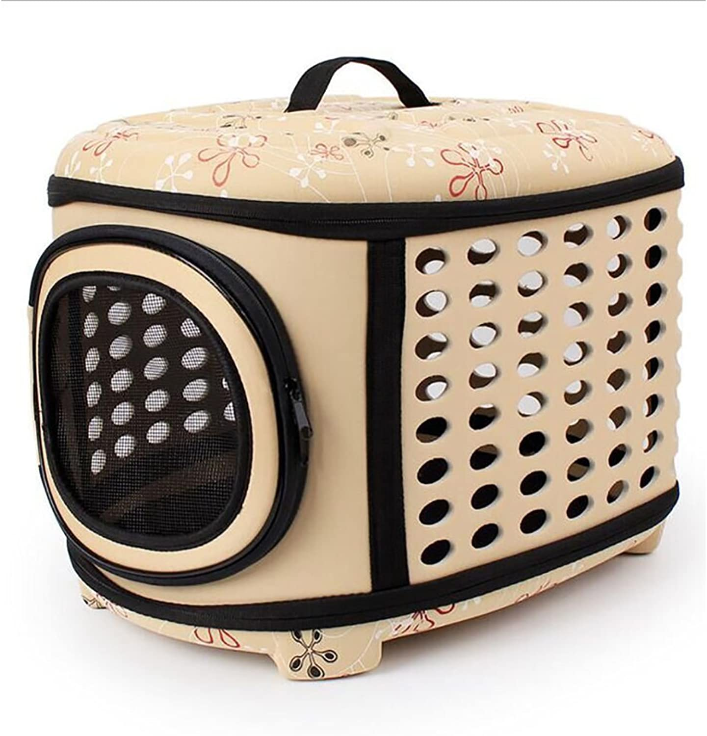 GKPLY Collapsible Pet Travel Carrier,Hard Cover And Portable Lightweight Pet Kennel,Comfortable Transporter Airline Approved Pet Crate Cage For Dogs Cats Rabbits Small Pets