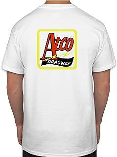 Atco Dragway Hot Rod Rat Nostalgia Drag Race Racing NHRA White Short Sleeve Shirt (XXX-Large)