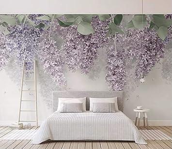 Wall Murals 3d Wallpaper Lilac Wisteria Flower 3d Wall Mural Living Room Sofa Tv Wall Bedroom Wallpaper Amazon Co Uk Diy Tools