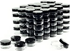 10 Gram Cosmetic Containers 100pcs Sample Jars with Lids Plastic Makeup Sample Containers BPA free Pot Jars