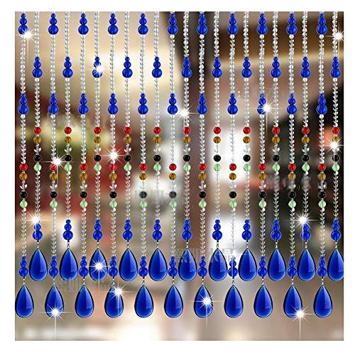 SSRS Cortinas moldeadas de Cristal Cortina Que cuelga de Cortina partición Salón Dormitorio Cuarto de baño, Personalizable Superficie Lisa perlada (Color : A, Size : 25 STRANDS-80X80CM)