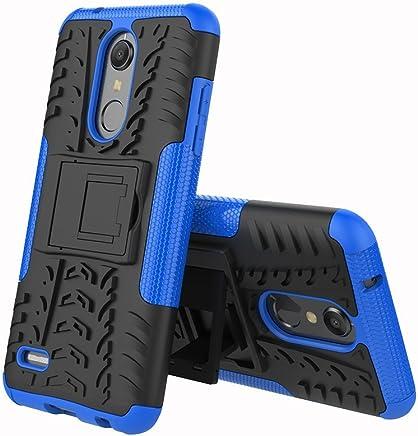 LG K10 2018 Case, LG Premier Pro LTE, LG K30 Case,UZER Shockproof Hybrid Slim Dual Layer Rugged Rubber Hybrid Hard/Soft Impact Armor Defender Full Body Protective Case With Kickstand for LG K30 (X410)
