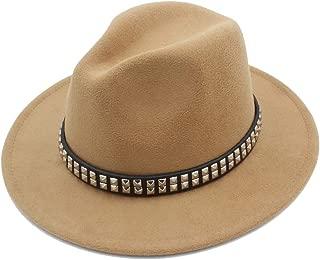 Fedora Cap Fashion Men Women Wool Fedora Hat Dance Party Hat Casual Wild Church Hat Pop Panama Jazz Hat Size 56-58CM Felt hat (Color : Khaki, Size : 56-58)