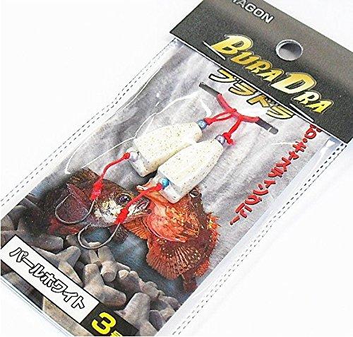 ブラクリ進化版 マルシン漁具 ブラドラ パールホワイト 5号 (2個入)/根魚、穴魚仕掛け