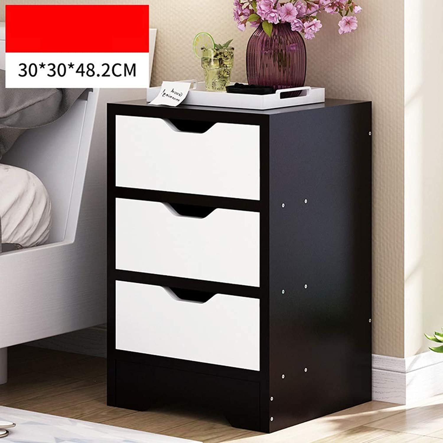 Sububblepper Bedside Table Storage Small Cabinet Storage File Cabinet Bedroom Bedside Cabinet (color   2)
