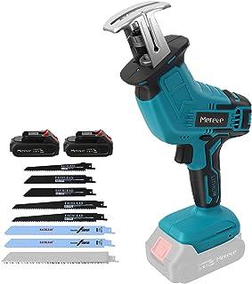 Sponsored Ad – Reciprocating Saw, Merecedeu 20V 2.0Ah Cordless Battery Powered Reciprocating Saw, 8 Saw Blades, 0-2800SPM ...