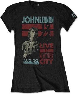 John Lennon Live in NYC T-Shirt Femme