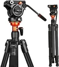 Fluid Head Tripod, Video Tripod with 360 Degree Fluid Head 70inch, Professional Video Camera Tripod System for DSLR, Cameras, DV Camcorder