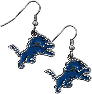 NFL Siskiyou Sports Womens Detroit Lions Dangle Earrings One Size Team Color