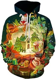 IZHH Couple Sweatshirt Pullover Hooded Christmas Party Hoodie Jacket Coat Jumper
