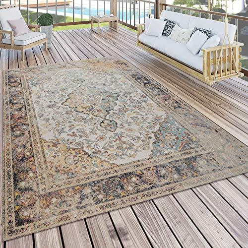 Paco Home In- & Outdoor-Teppich Für Balkon Und Terrasse, Mit Orient-Design, In Bunt, Grösse:160x220 cm