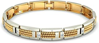 0.16 cttw Round-Cut-Diamond IJ| SI 7 inches identification-bracelets Size 18K Yellow Gold