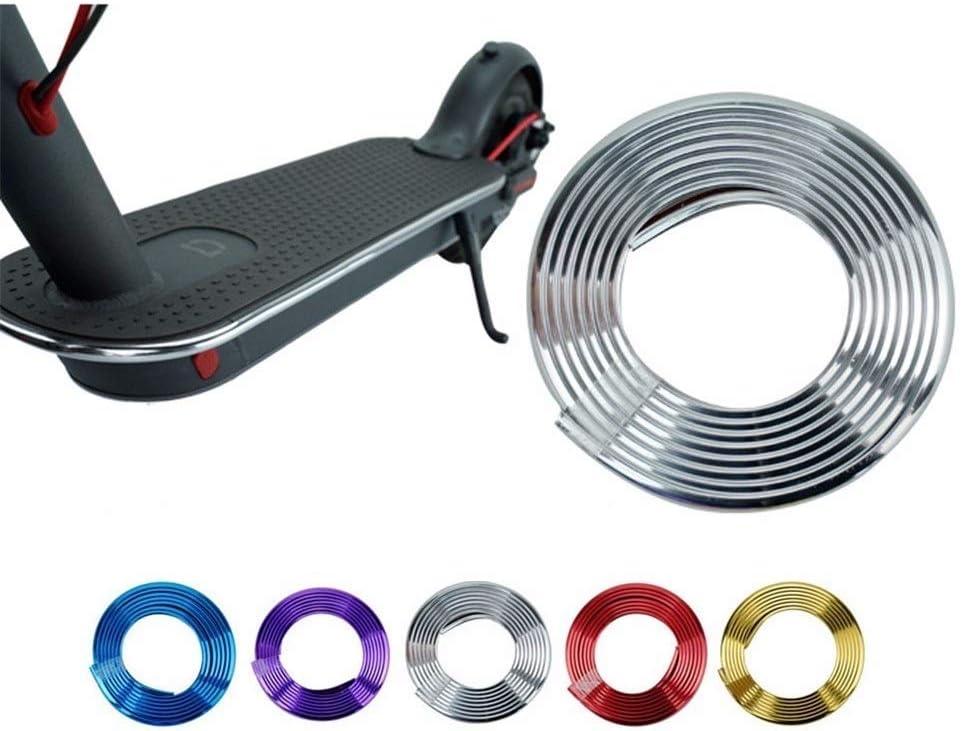 MKISHINE Selbstklebende Anti-Kollisions-Schutzstreifen f/ür Roller Xiaomi M365 M365 Pro Sto/ßf/änger 2 m Farbe elektroplattiert frei geschnitten