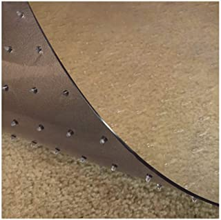 Resilia - Deluxe Clear Vinyl, Plastic Floor Runner/Protector for Deep Pile Carpet - Non-Skid, Textured Pattern, (36 Inches...