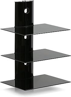 Furinno Pływająca półka ścienna, czarna, 3-poziomowa