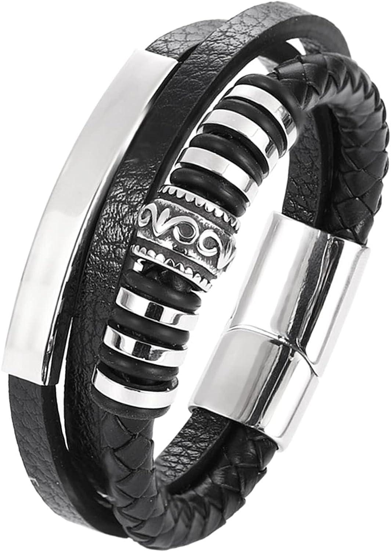 BoAn Leather Bracelet For Men Genuine Braided Wrap Los Angeles Superlatite Mall Cuff