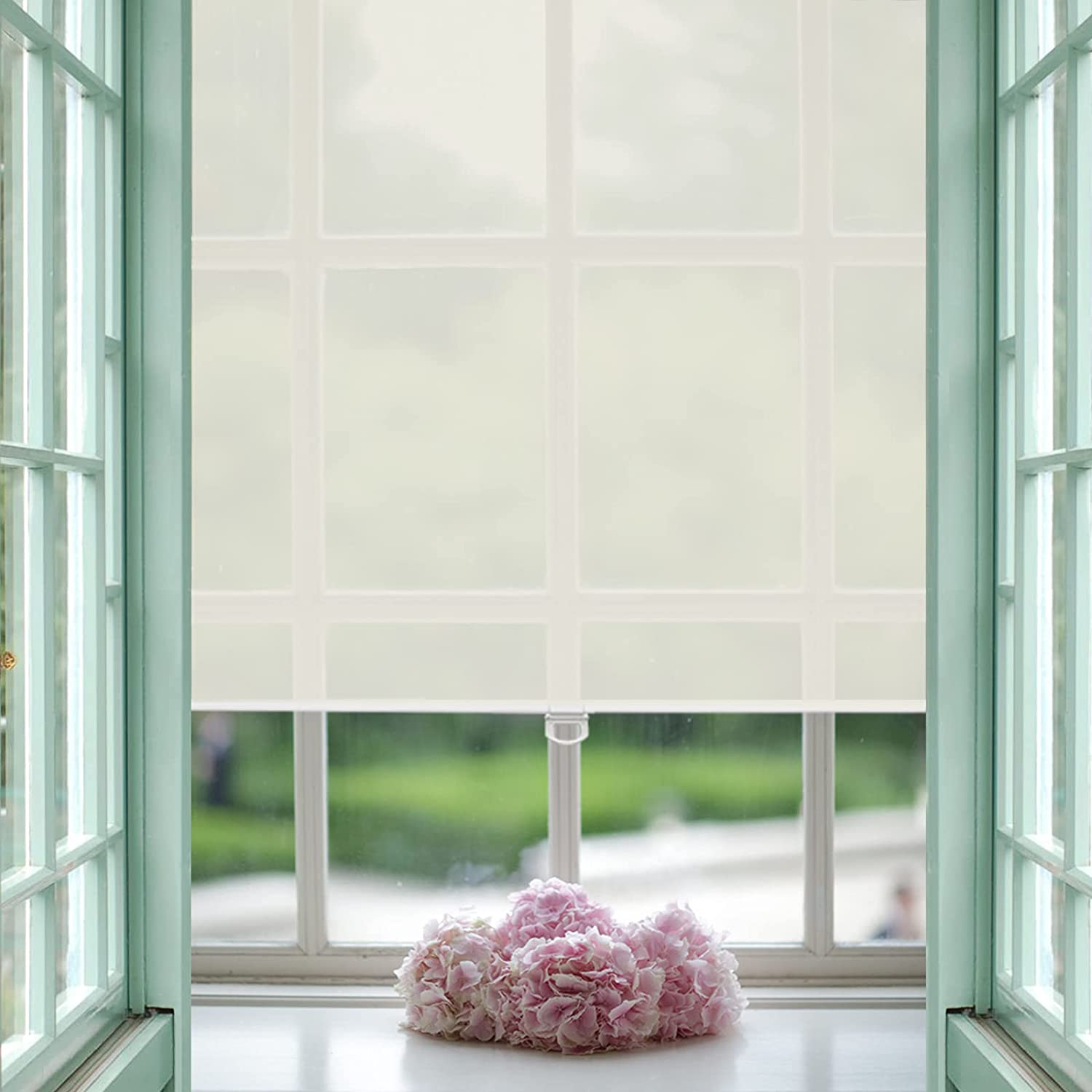 AOSKY Cordless Blinds for Windows Light Filtering Roller Window Shades for Room Darkening Shades with UV Protection Room Darkening Shades for Home, Bedroom, Office 30