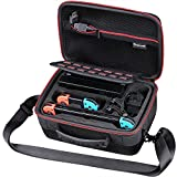 Smatree Carrying Case for Nintendo Switch,Hard Shell Portable Travel Case for Nintendo Switch Console & Accessories