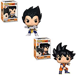 Funko POP! Animation Dragon Ball Z: Vegeta and Goku Toy Action Figure - 2 POP Bundle