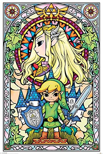 Die Legende von Zelda 'Glasmalerei' Maxi Poster,61 x 91.5 cm
