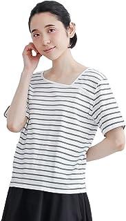 (メルロー) merlot アシメスクエアネックボーダーTシャツ