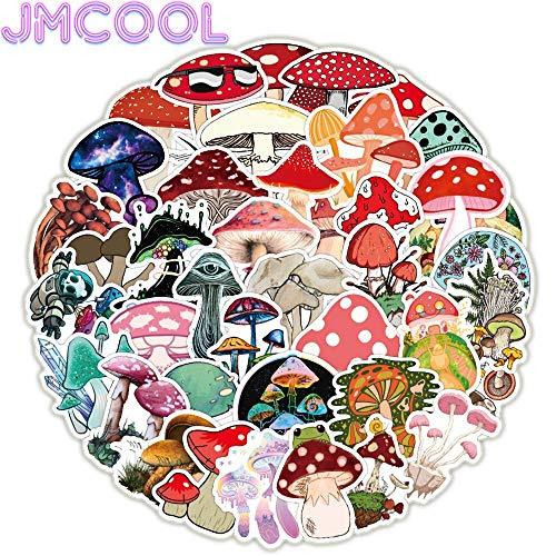 50 PCS Cute Mushroom Plant Cute Sticker For Book Suitcase Guitar Skateboard Waterproof Cute Decals Stickers Toys