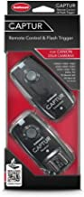 Hahnel HL -CAPTUR C Captur Remote Camera/Flash Trigger, Transmitter/Receiver for Canon, Black