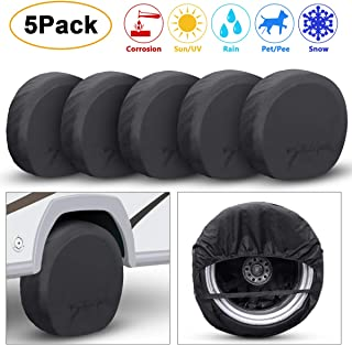Truck Fits 27-29 Tire Diameter Truck Fits 27-29 Tire Diameter Trailer Camper Turboom Tire Cover Set of 4 Waterproof Sun Protectors for RV