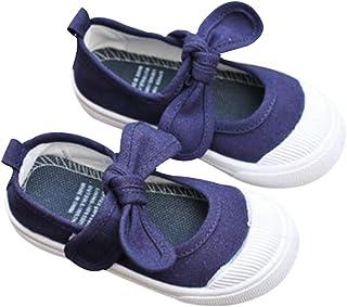 DEBAIJIA Chaussures d'École 1-12 Ans Bébé Filles Toile Semelle Antidérapante pour Tout-Petit Canvas Plates Enfant Filles P...