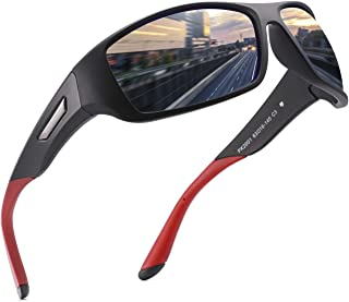 Polarized Sports Sunglasses for Men Women Driving Sunglasses Cycling Running Fishing Golf Goggles...