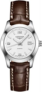Longines Conquest Automatic Black Dial Stainless Steel Mens Watch L27854566