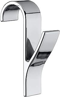WENKO haczyki do drzwi/grzejników, chrom, 7 x 2,5 x 10,5 cm
