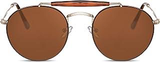 Cheapass - Gafas de Sol Sin montura Pequeñas Redondas Gafas Piloto con Puente Diseñador Hombre Mujer Protección UV400
