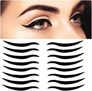 Fellibay Eyeliner Stickers Adhesive Eyeliner Cat Eyeliner Eyeliner Tape for Hooded Droopy Uneven Mono Eyelid 160 Pairs(Black)