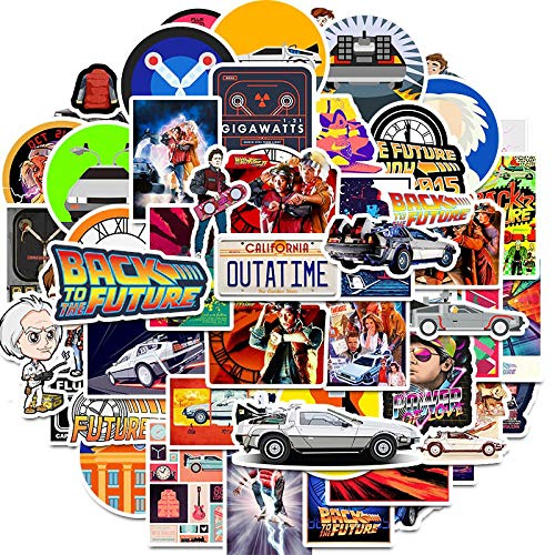 100pcs Classic Movie Back to The Future Stickers for Skateboard DIY Gift Box Bicycle Computer Notebook Car Children s Toys