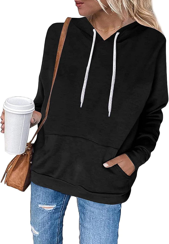 Womens Fashion Hoodies Sweatshirts Casual Long Sleeve Solid Color/Tie-Dye/Gradient Graphic Hooded Sweatshirt W/Pocket Blouse