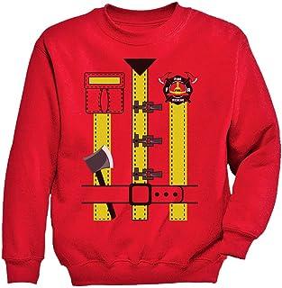 Tstars - キュート消防士ハロウィンコスチュームギフト スイート消防士ハロウィンプレゼント ハロウィン消防士プレゼント キッズスウェットシャツ