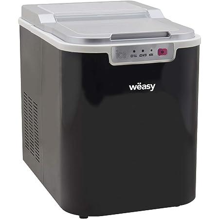 Wëasy Machine à glaçons KW12, 12kg en 24h, 1 taille de glaçons Automatique, Electrique, Compact, Portable sans installation, Silencieuse 2,2L, cube de glace rapide prêt en 12min, à poser sur comptoir